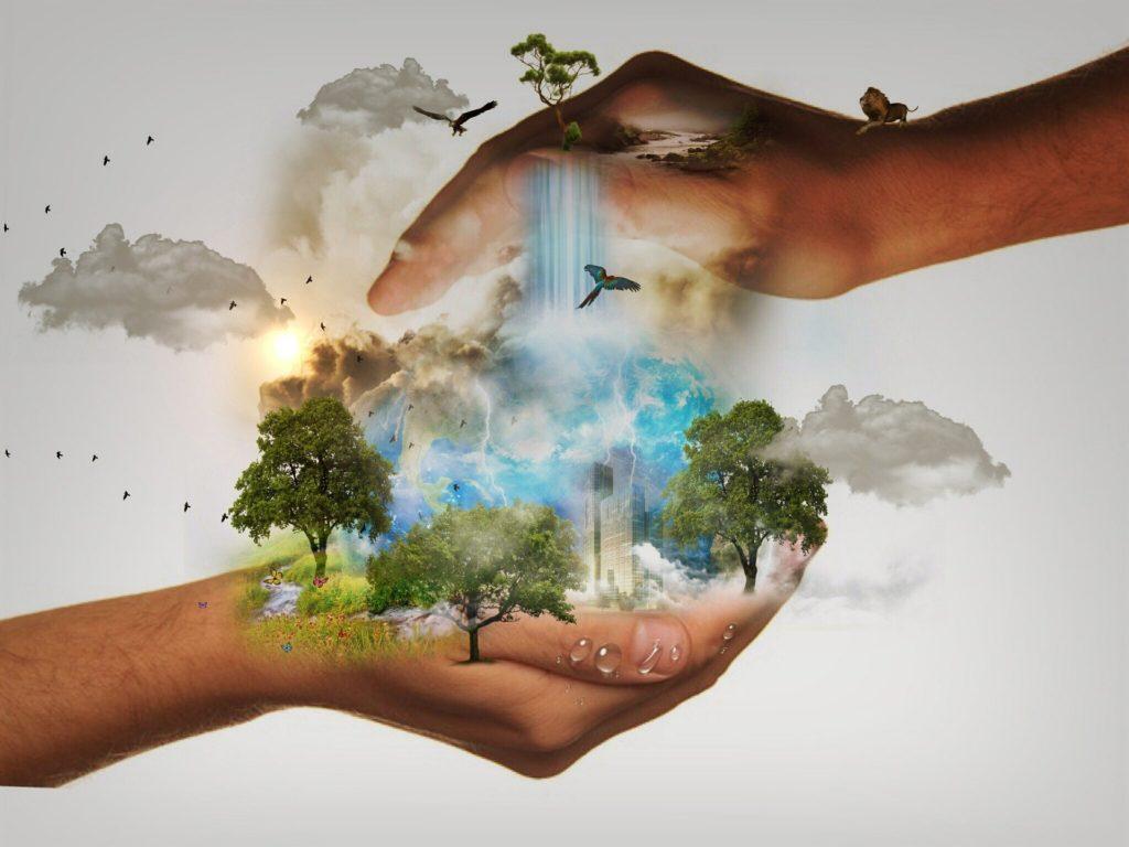 Immagine sull'aver cura del mondo